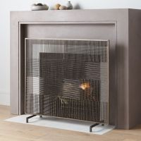 Ansel Plaid Fireplace Screen + Reviews   Crate and Barrel
