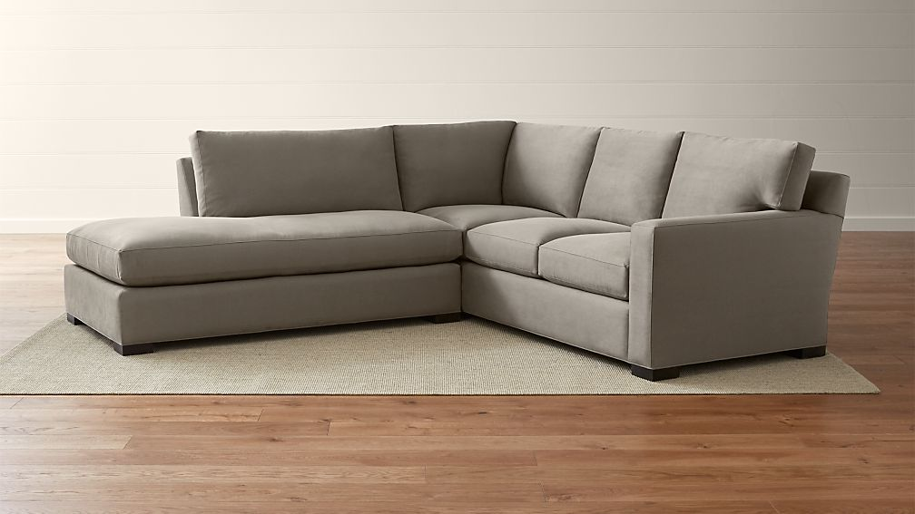Sofa Fabric Hs Code Axis Ii 2-piece Left Bumper Sectional Sofa Douglas: Coffee