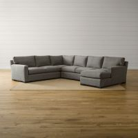 Axis II 4-Piece Sectional Sofa Douglas: Charcoal | Crate ...