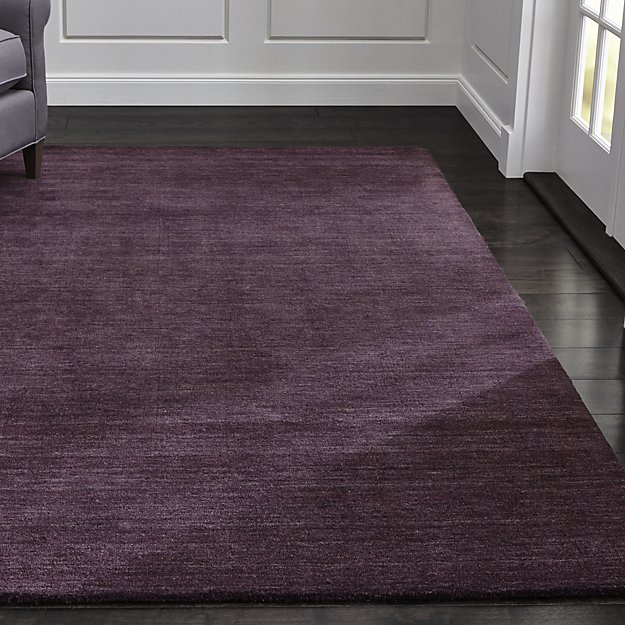 Houzz Rug Sale Baxter Plum Purple Wool Rug | Crate And Barrel