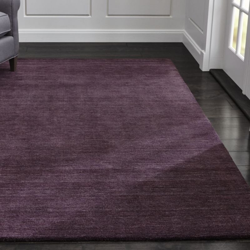 Design Tv Board Baxter Plum Purple Wool Rug | Crate And Barrel