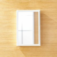 Beau Small White Medicine Cabinet | Crate and Barrel