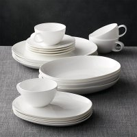 Bennett Oval 20-Piece Dinnerware Set | Crate and Barrel