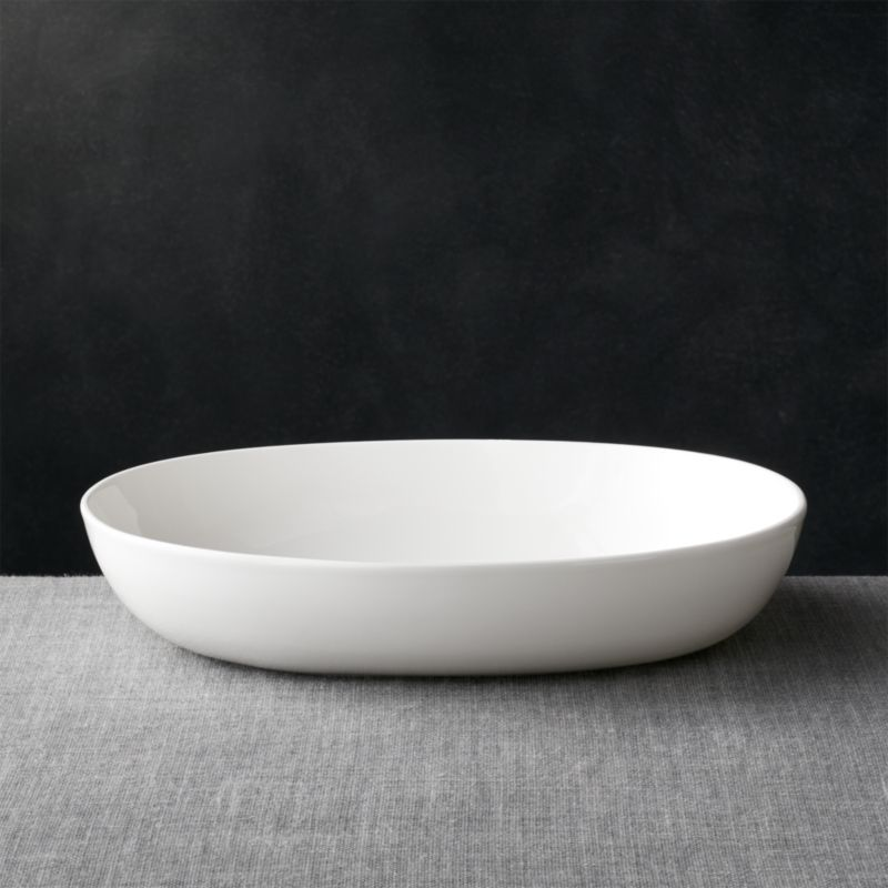 Velvet Sectional Bennett Oval Large Serving Bowl + Reviews | Crate And Barrel