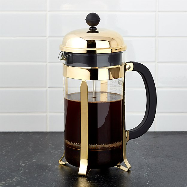 Bodum Chambord Bodum Gold French Press | Crate And Barrel