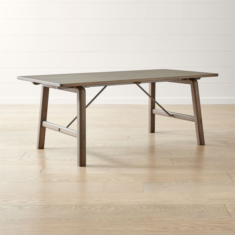 Bridge Extension Oak Dining Table Reviews Crate And Barrel