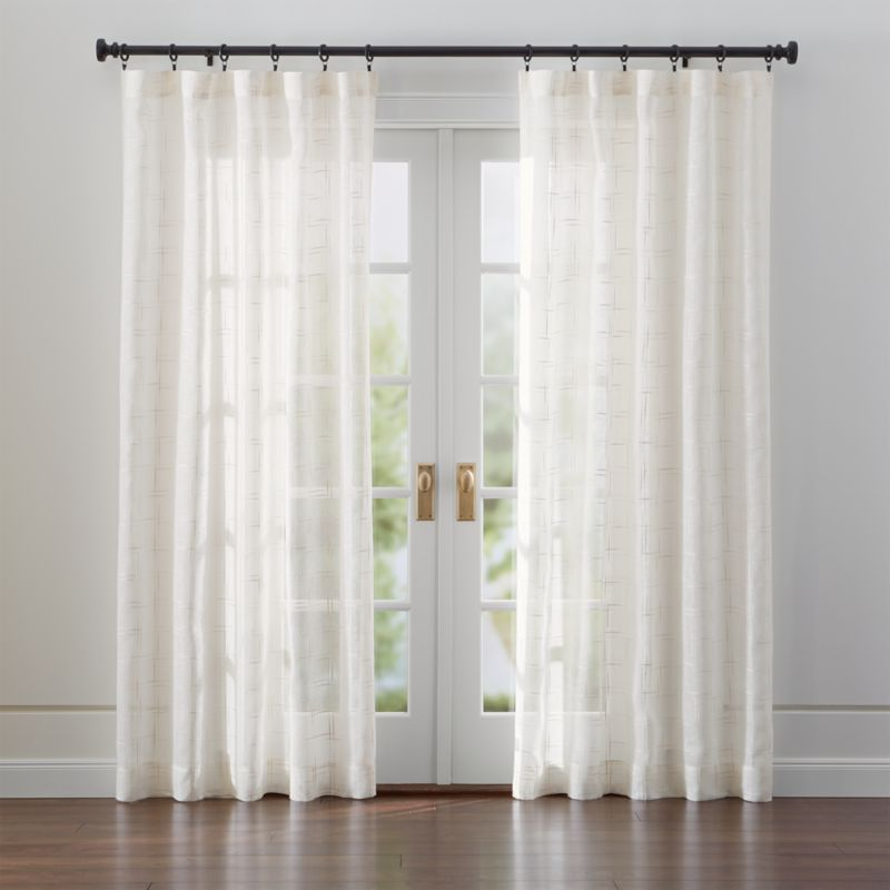 Buy Kitchen Islands Online Briza Sheer Cream Linen Curtains | Crate And Barrel