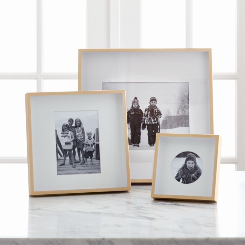 Location Tables Chaises Brushed Brass Picture Frames | Crate And Barrel