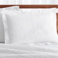 Celeste Standard White Pillow Sham | Crate and Barrel