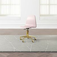 Kids Class Act Pink and Gold Desk Chair | Crate and Barrel