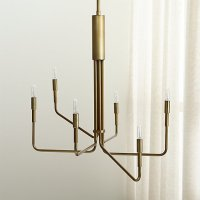 Clive Brass Chandelier | Crate and Barrel