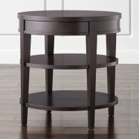 Colette Round Side Table with Drawer | Crate and Barrel