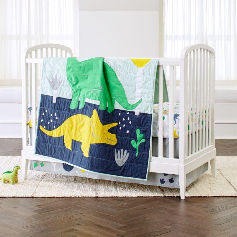 Dinosaur Crib Bedding 3 Piece Set Reviews Crate And