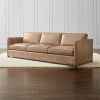 "Dryden Leather 3-Seat 103"" Grande Sofa + Reviews 