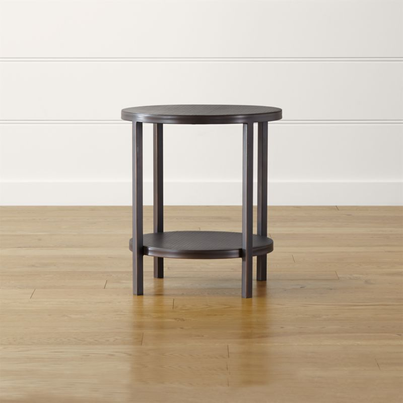 Crate And Barrel Round End Table Table Design Ideas