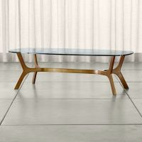 Elke Rectangular Glass Coffee Table | Crate and Barrel