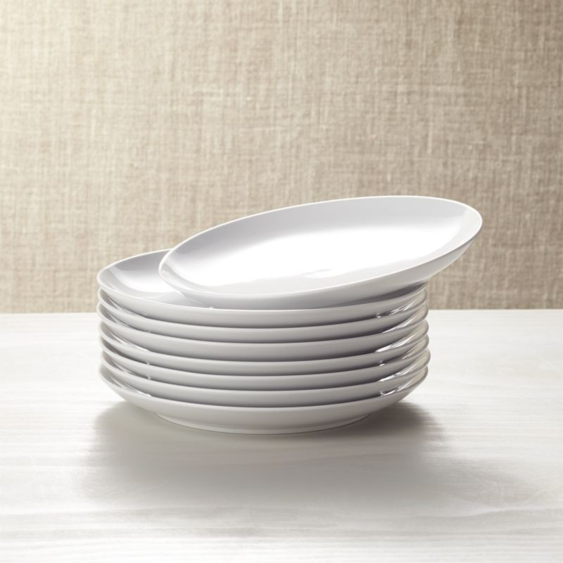 Kitchen Carts Islands & Utility Tables Set Of 8 Essential Salad Plates + Reviews | Crate And Barrel