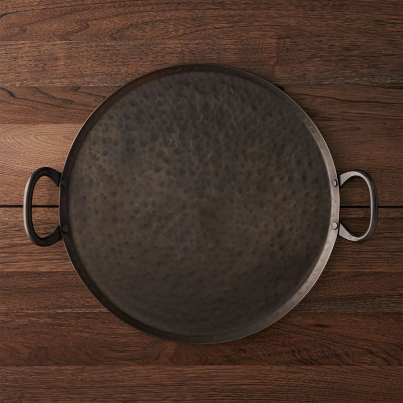 New Metal Kitchen Cabinets Iron Serving Tray + Reviews | Crate And Barrel