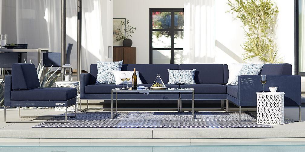 Outdoor Furniture Sets Crate and Barrel - crate and barrel living room
