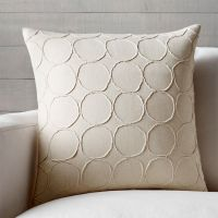 "Genna 20"" Pillow with Feather-Down Insert 