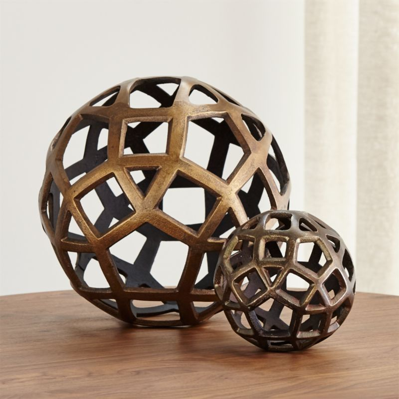 New Metal Kitchen Cabinets Geo Decorative Metal Balls | Crate And Barrel