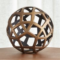 Geo Large Decorative Metal Ball | Crate and Barrel
