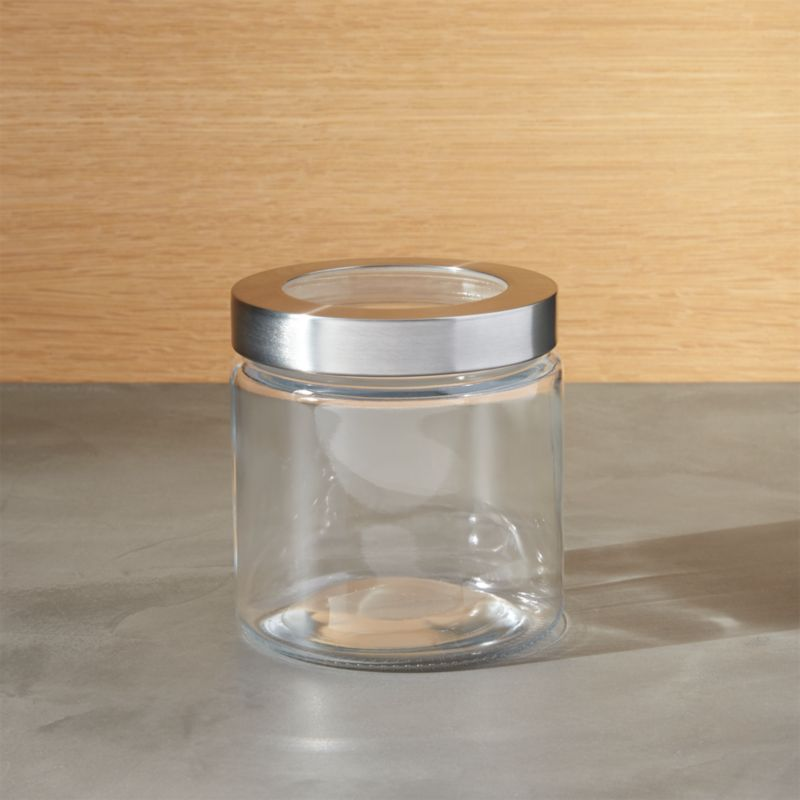 Daybeds Houzz Extra Small Glass Storage Canister With Stainless Steel