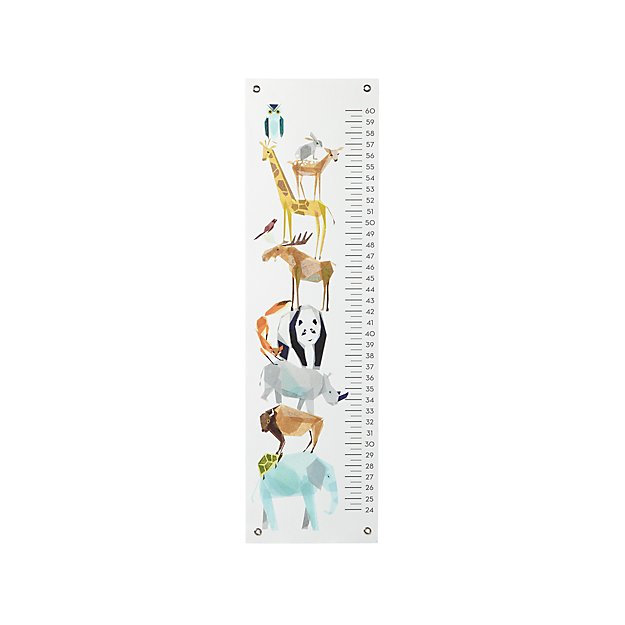 Zoo Animal Growth Chart Crate and Barrel