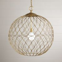 Hoyne Extra-Large Brass Pendant + Reviews | Crate and Barrel