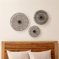 3-Piece Intricate Circle Metal Wall Art Set | Crate and Barrel
