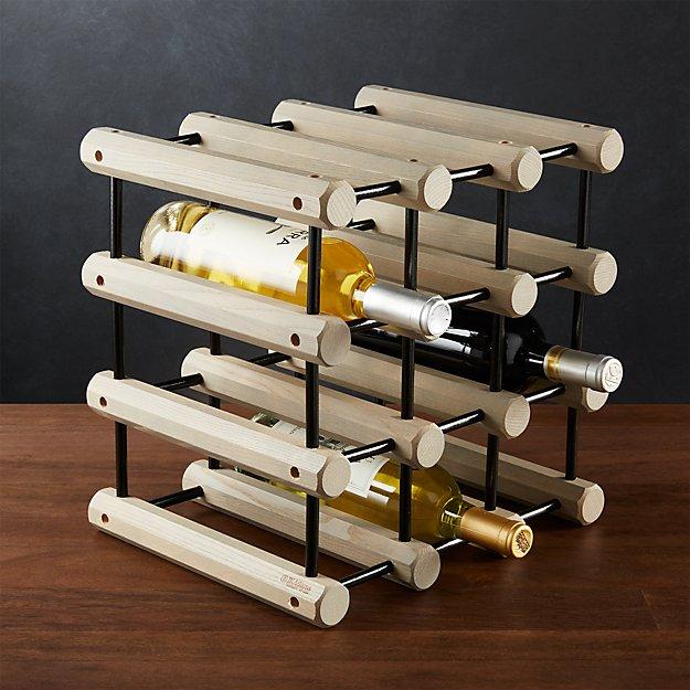 Jk Adams Modular Wood Wine Rack Crate And Barrel