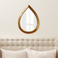 Kasbah Teardrop Brass Wall Mirror | Crate and Barrel
