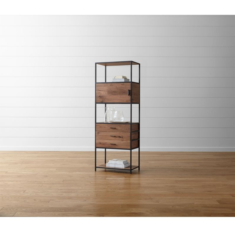 Knox Tall Storage Bookcase Reviews Crate And Barrel