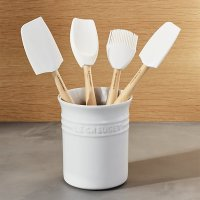 Le Creuset  White 5-Piece Utensil Crock Set | Crate and ...