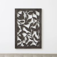 Leaves Indoor/Outdoor Metal Wall Art + Reviews | Crate and ...