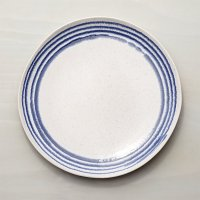 Lina Blue Stripe Dinner Plate | Crate and Barrel