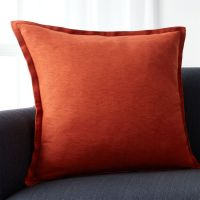 Linden Copper Colored Pillow | Crate and Barrel