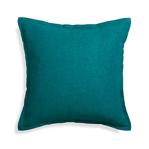 Linden Peacock Blue 23quot Pillow With Down Alternative