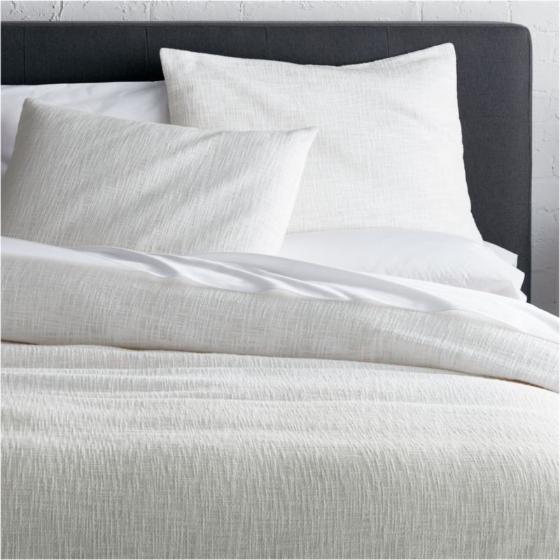 Houzz Benches Lindstrom White Duvet Covers And Pillow Shams | Crate And