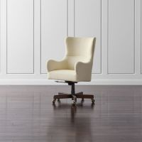 Liv Upholstered Wingback Office Chair + Reviews | Crate ...