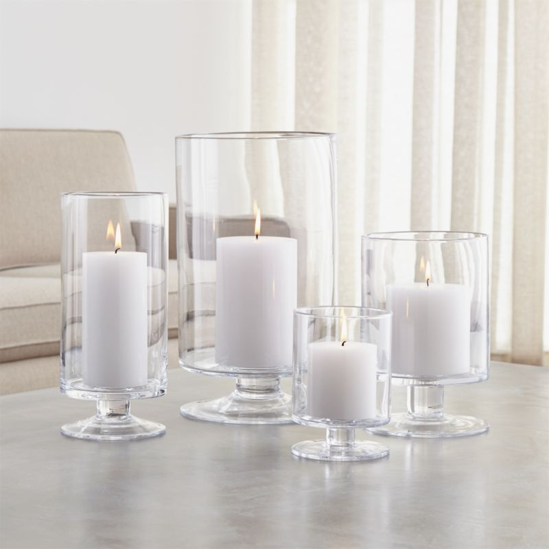 Different Kitchen Islands London Glass Hurricane Candle Holders | Crate And Barrel