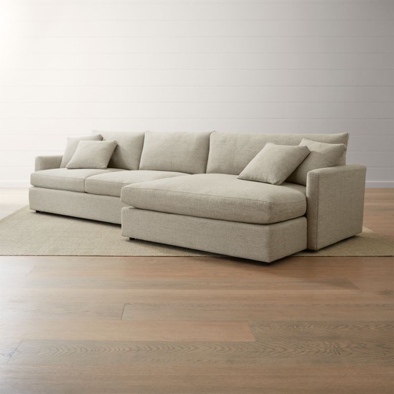 Lounge Ii 2 Piece Right Arm Double Chaise Sectional Sofa