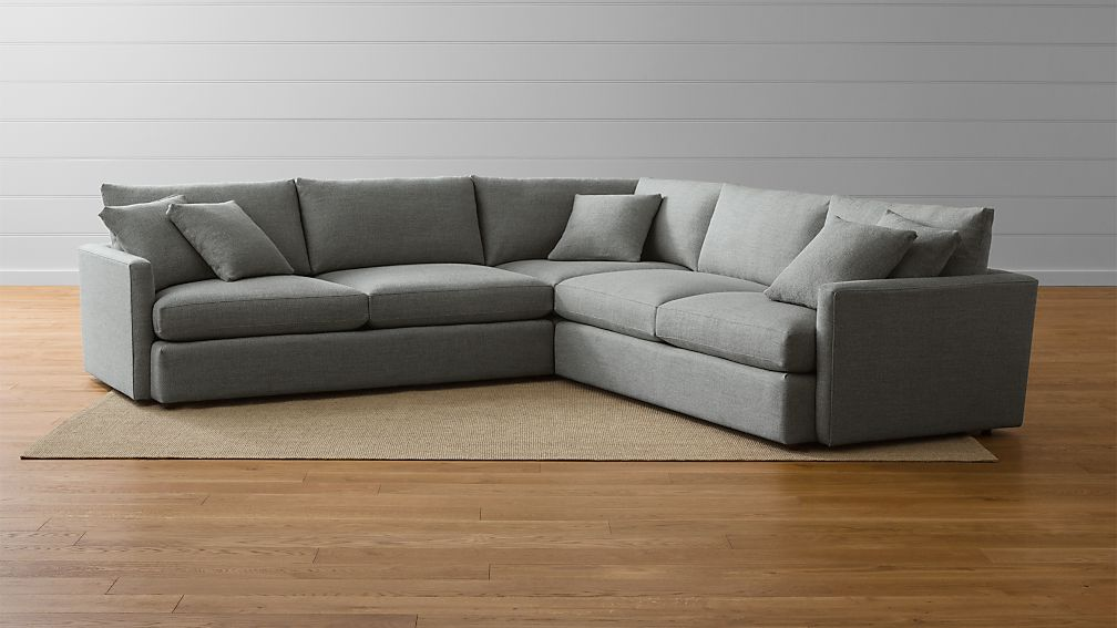 Sofa Fabric Hs Code Lounge Ii 3-piece Sectional Sofa | Crate And Barrel