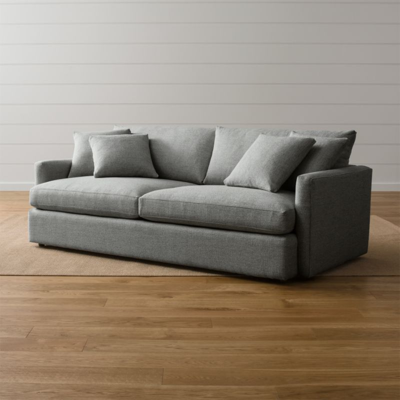 Sofa Fabric Hs Code Lounge Ii Grey Couch + Reviews | Crate And Barrel