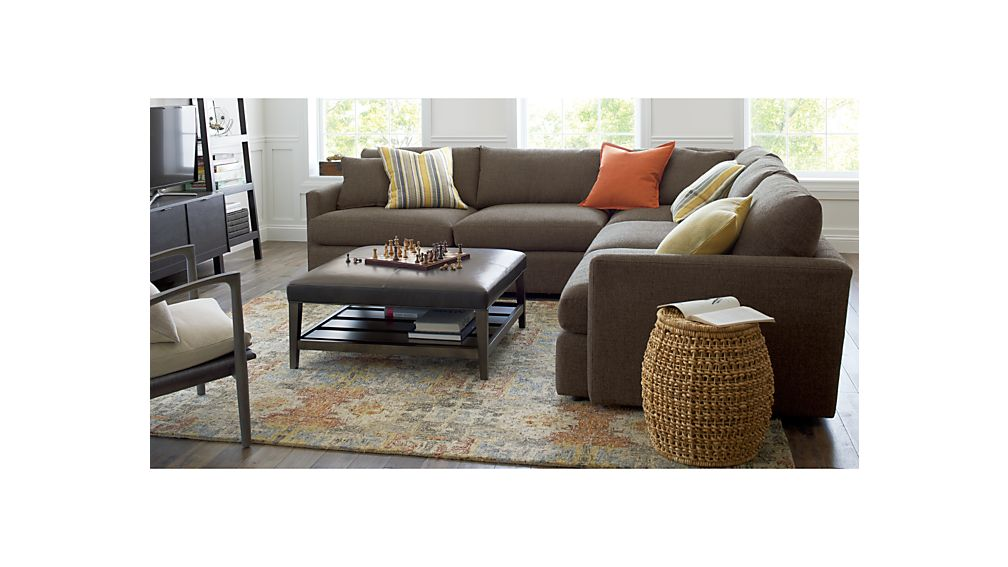 Lounge II 3-Piece Sectional Sofa Crate and Barrel - crate and barrel living room