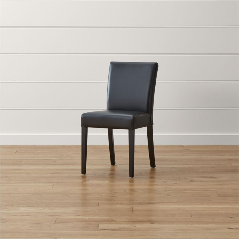 Lowe Onyx Leather Dining Chair Reviews Crate And Barrel