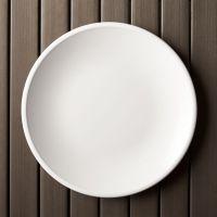 "Lunea Melamine White 10.5"" Dinner Plate + Reviews   Crate ..."