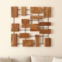 Marcel Teak Wall Art | Crate and Barrel