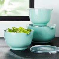 Rosti Retro Green Melamine Mixing Bowls with Lids Set ...
