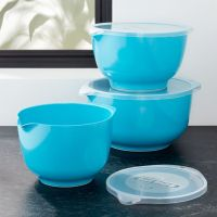 Rosti Latin Blue Melamine Mixing Bowls with Lids Set ...